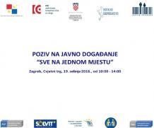 """Najava događanja """"SVE NA JEDNOM MJESTU!"""" Cvjetni trg, Zagreb, 19. svibanj 2018."""